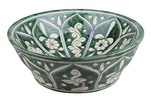 Baila - Lavabo de cerámica de Talavera de México Motivos decorativos coloridos Cuarto de ba?o ideal con azulejos con efecto de madera Azulejos de cemento Gabinete rústico