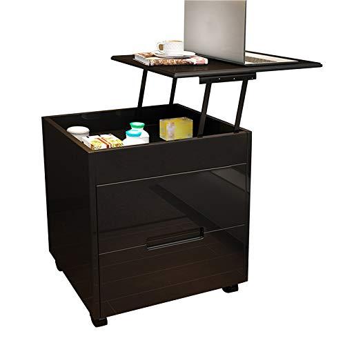 QI-CHE-YI Nachttisch Einfache Moderne Maltschrank Einfache Aufbewahrung Multifunktionale Anhebung Laptop Schreibtisch, Nordic Bedroom Bedside Storage Cabinet,A2