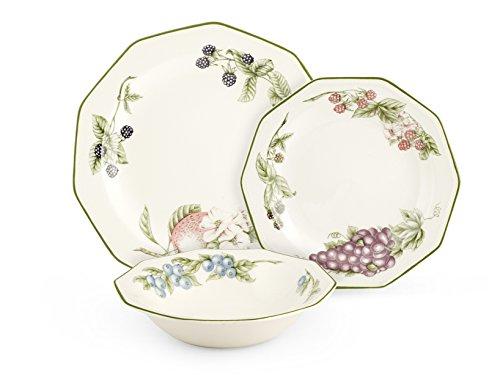 Churchill Vict - Vajilla de 18 piezas Etw Decoro Victorian Orchard para decoración de mesa, E.T.W, blanco marfil