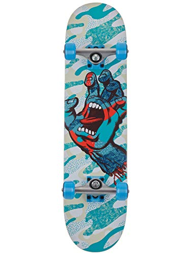 SANTA CRUZ - Skateboard Completo Primary Hand 7.5', Colore: Blu