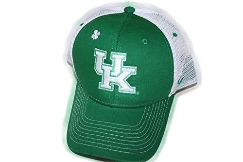 Kentucky Wildcats UK Green St Patrick's Big Rig Top Mesh Adult Men/Womens Adjustable Mesh Trucker Baseball Cap/Hat