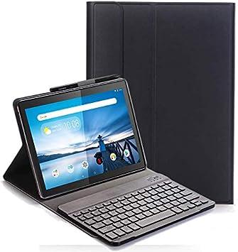 Teclado Funda para Lenovo Tab M10 TB-X605/TB-X505, QWERTY Slim Teclado Keyboard Case con Magnético Desmontable Inalámbrico Bluetooth para Lenovo Tab ...