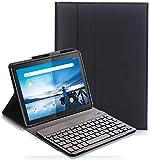 Teclado Funda para Lenovo Tab M10 TB-X605/TB-X505, QWERTY Slim Teclado Keyboard Case con Magnético Desmontable Inalámbrico Bluetooth para Lenovo Tab M10 TB-X605F/L TB-X505F/L 10,1 Pulgada, Negro