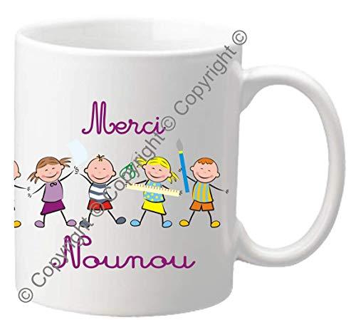 Mug Merci NOUNOU - Le Cadeau Original de Fin d'Année Scolaire