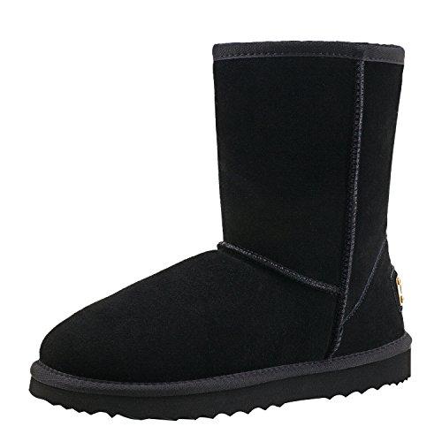 Shenduo Uomo Water-Resistant Classic metà polpaccio Snow Boots 6 UK Nero