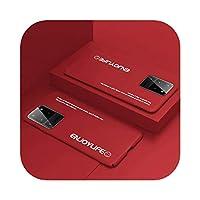 Yokkg サムスンギャラクシーS20S10 E 5G S9S8ノート109プラスかわいい耐衝撃性フロストカバー用の超薄型カラフルマットハードPC電話ケース-Red-For Galaxy S10