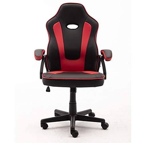 LQCHH Sillas de Juego giratorias y ergonómicas con sillones, computadoras de Escritorio, sillas de Oficina de Respaldo Alto (Color : Red and Black)