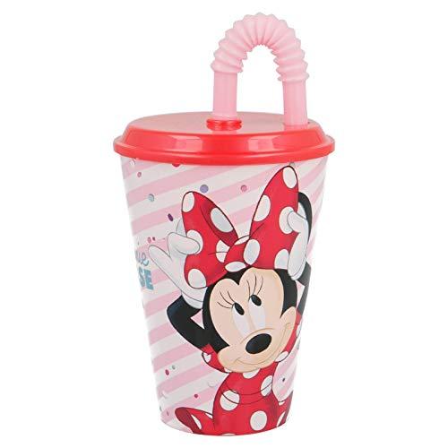 2673; vaso con pajita Disney Minnie Mouse; capacidad 415 ml; producto de plástico; No BPA