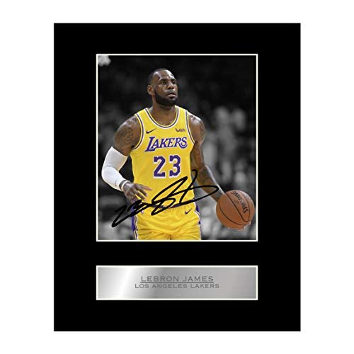 Lebron James Signed Mounted Photo Display Los Angeles Lakers #2 NBA Autographed Gift Picture Print