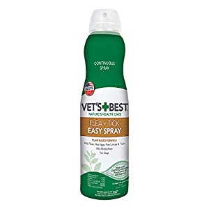 Vet's Best Flea and Tick Easy Spray | Flea Treatment for Dogs and Home | Flea Killer with Certified Natural Oils