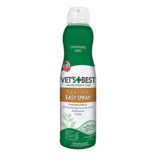 Vet#039s Best Flea amp Tick Easy Spray | Flea Treatment for Home | Flea Killer with Certified Natural Oils | 63 oz