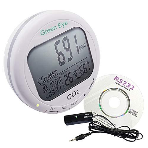 Kohlendioxid-Detektor CO2 Logger Luftfeuchtigkeit Desktop-Monitor 9999 ppm