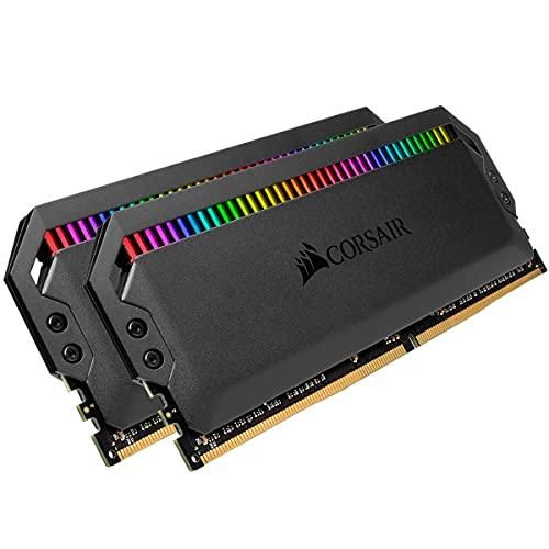 Corsair Dominator Platinum RGB 32GB 2x16Go DDR4 3600 PC4 28800 C18 1.35V AMD Optimized Memory Black