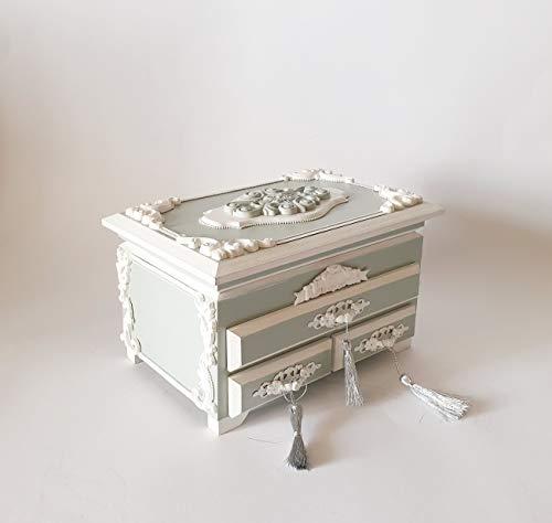 Kommode/Minikommode mit Spiegel, Schatulle,Box, schachteln, Kästchen, wood, für schmuck