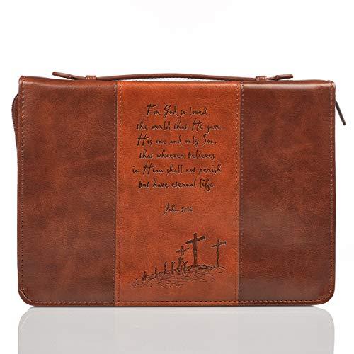 Brown/TAN Two-Tone Medium Bible Cov