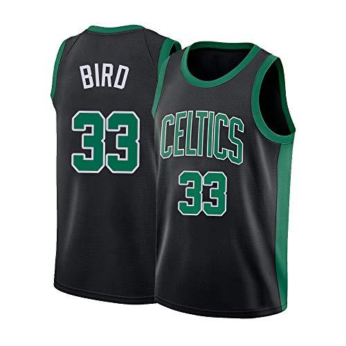 Mens Bird Jerseys Boston Adult 33 Larry Basketball Black (Large)