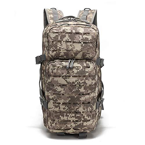 バッグスクールバッグクライミングYHHXオックスフォード布バックパック、3Dリュックドアアドベンチャー戦術迷彩バックパック屋外防水バックパックレトロなバックパック迷彩戦術的なバックパック,迷彩