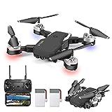 OBEST Drone Pieghevole, videocamera HD 1080P da 5 Megapixel, Aereo WiFi FPV con Telecomando,...