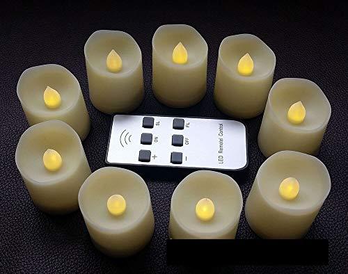 Seguridad Remoto y temporizador, Pack de 6 Blanco caliente de la batería velas con mando a distancia, las luces del té de control remoto inalámbrico de Led Velas, contador de tiempo de 6 horas Real