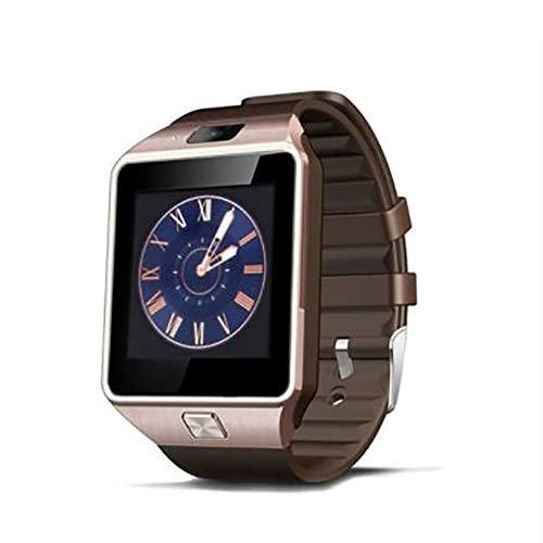 MeterMall DZ09 Smart Watch Bluetooth Positioning Mobiele Telefoonkaart Stappenteller Anti-Verloren Draagbaar apparaat Goud