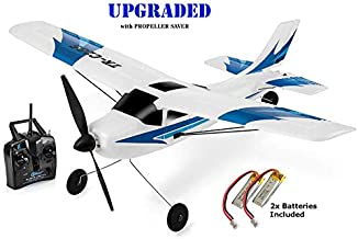Top Race Rc Plane 3 Channel Remote Control Airplane Ready to Fly Rc Planes for Adults, Easy & Ready to Fly, Great Gift Toy for Adults or Advanced Kids, Upgraded with Propeller Saver (TR-C285G)