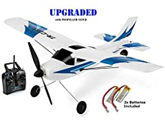 Top Race 3 Channel Rc Plane for Adults Remote Control Airplane Ready to Fly TR-C285G UPGRADED UPGRADED: New Propeller Saver Technology, to save RC plane from damage. Easy to Fly rc Plane! Amazing Remote Control Plane with 3 level flying, Easy, Medium...