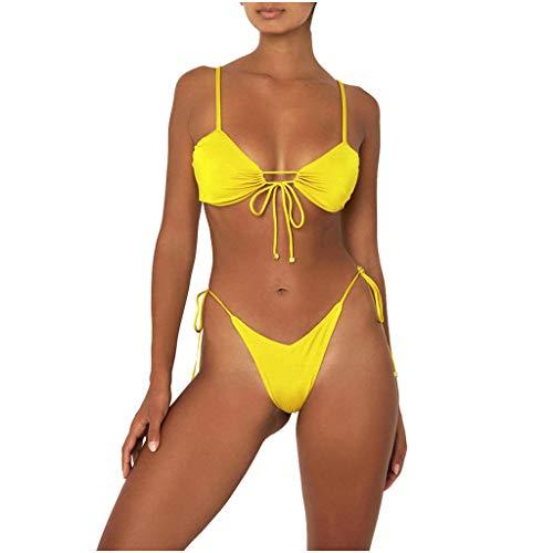Traje de bao para mujer de verano con estampado dividido, traje de bao de moda, traje de bao de playa, bikini multicolor de nailon, conjunto de bikini sexy con tiras, tringulo de dos piezas
