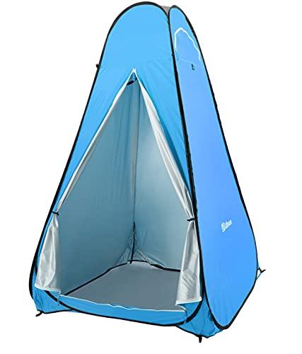 Ubon Tenda Istantanea da Campeggio Leggera ad Apertura Tenda Pop-Up da Doccia Privata Spogliatoio Bagno Mobile Portatile Tenda da Spiaggia all'Aperto Blu 1P