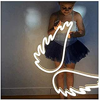 SUPERIORVZ Angel Wing Lamp Neon Light Sign Wall Neon Light LED Indoor Decor Night Lamps, Neon Light Sign Wedding Birthday Party Bedroom Table Gift Kids Toys Decor Decorations Valentines Christmas Gift
