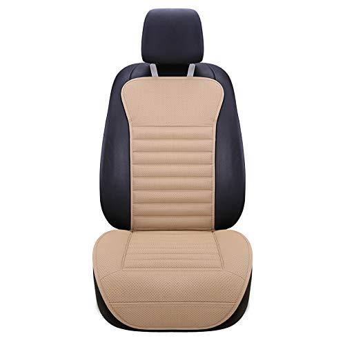 HONCENMAX Auto-Vordersitzbezug Kissen Atmungsaktiv rutschfest Rückenpolster Autositz-Schutz - Universal Fit für die meisten Autos, LKW, SUV oder Van
