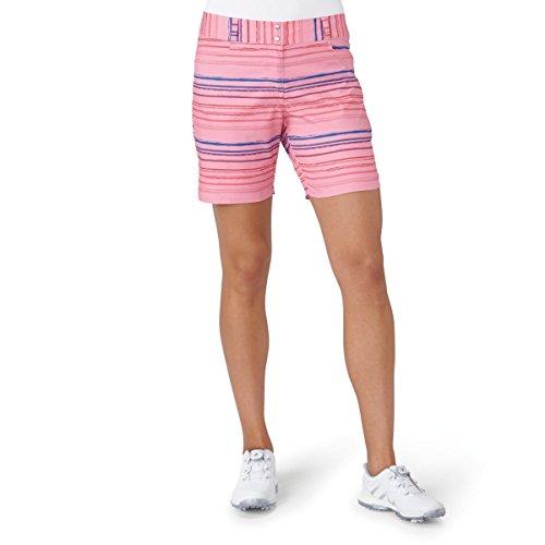 adidas Golf Mujer Essentials Pintado Rayas Pantalones Cortos, Mujer, Easy Pink