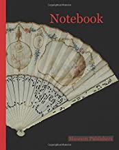 Notebook: Folding fan with ivory frame and painted parchment leaf with rococo motifs, pastoral scene and chinoiserie