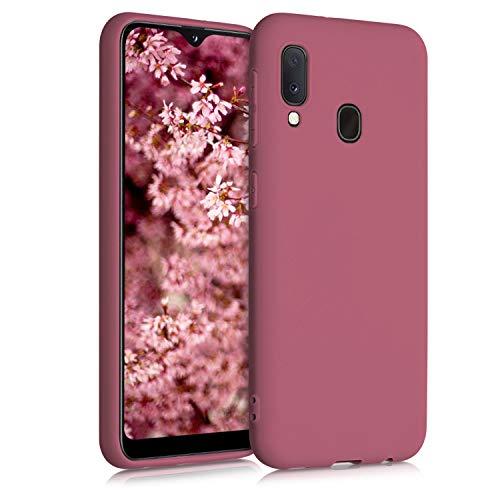 kwmobile Carcasa Compatible con Samsung Galaxy A20e - Funda móvil de Silicona - Protector de TPU en Rosa Antiguo