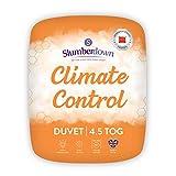 Slumberdown Climate Control Single Duvet 4.5 Tog Summer Duvet Single Bed
