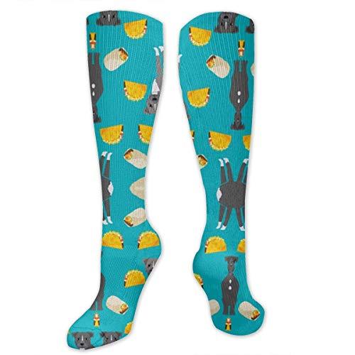 N/A NA Calcetines Casuales para Hombre y Mujer, a la Rodilla, Mediados de Pantorrilla, Calcetines para Disfraz de Cosplay, Calcetines para niñas, Calcetines de Pitbull Taco Perros y Burritos