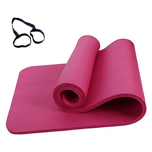 Roeam Yogamatte rutschfest, Yogamatte 10MM,Yoga Matte,Fitness Sportmatte, Fitnessmatte,Gymnastikmatte für Frauen Männer, 183cm x 61cm, Rosa