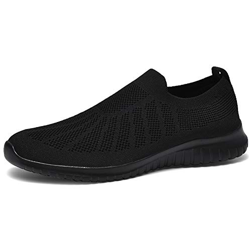 poemlady Men's Slip on Loafer Shoes- Comfortable Casual Mesh Walking Sneakers