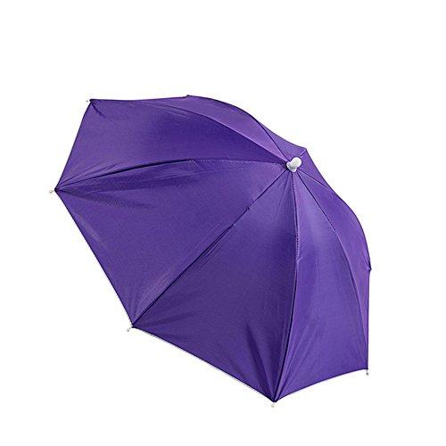 ZHUSAN vissen paraplu vouwen mini hoed parasol gedragen op het hoofd zon te beschermen voor kind voor vissen reizen