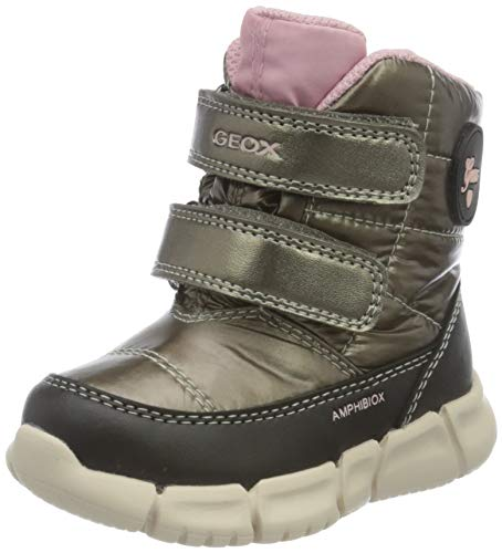Geox Baby-Mädchen B FLEXYPER GIRL B AB Snow Boot, Braun (Smoke Grey/Black), 20 EU