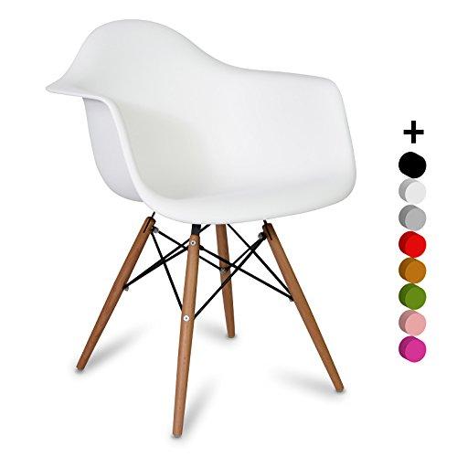 Sedia Eames DAW style bianco