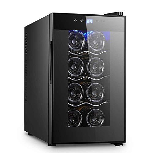 Refrigerador De Vino - Refrigerador De Vino Pequeño, Enfriador De 8 Botellas, Táctil, 39 Db En Funcionamiento, Puerta De Vidrio, Ajuste De 50 A 64 °F, Vinoteca Termoeléctrica Eléctrica Refrigerador