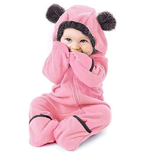 Baby Fleece Voet Jumpsuit Unisex Baby Doek Winter Jassen Leuke Pasgeboren Baby Jumpsuit Sneeuwpak Bodysuits