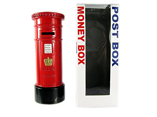 London Red Post Box Money Box Made of Die Cast Metal, London Collectable Souvenir