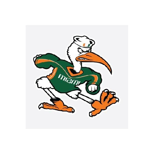 Miami Hurricanes U Car Stickers or on anything many colors