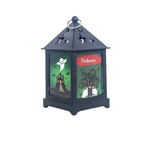 SilenceID Weinlese-Art-Laterne-Halloween-Hexe-Kürbis-Licht-Partei-Tür-Raum-Dekoration, die flackernde Laterne-dekorative Retro- Lampe übergibt