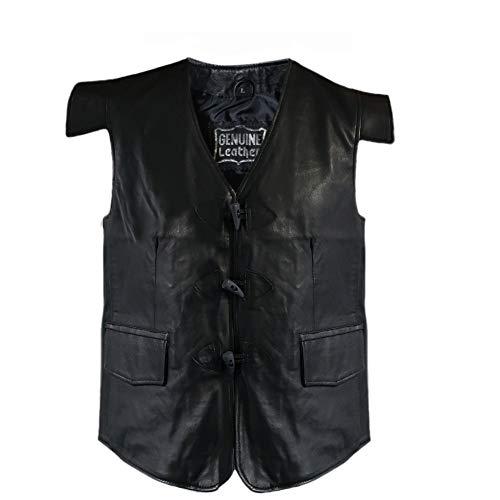Tartanista - Veston Jacobite en cuir - homme - pour kilt/style porteur d'épée - noir uni - L