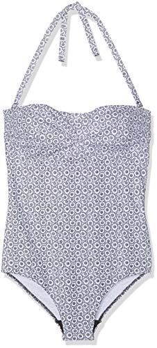 LOVABLE Reversible Black & White Costume da Bagno, Multicolore (Bianco + Nero 558), (Taglia Produttore:38 D) Donna