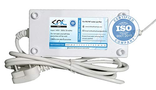 KNL-SMPS, AC to DC Adapter, Output 24 Volts. 2.5 amp for Domestic Electric RO/NF Water Purifier, AC Current Input Range 140 Volt to 300 Volts