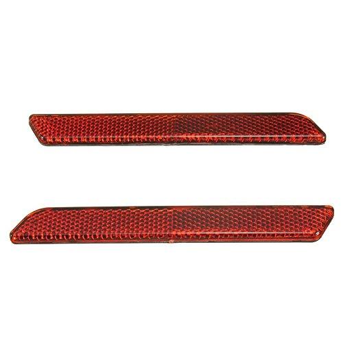 Cuasting 2X Rote Reflektoren Für Lock-Abdeckungen Harte Satteltaschen Seitliche Sichtbarkeit