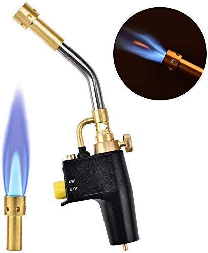 S SMAUTOP Torche à gaz portable,pour Brasage Outil de Barbecue en Plein Air Portable Haute Intensité avec 3 Buses, Bouteilles à Gaz Non Incluses